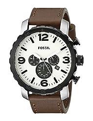 Fossil Men's JR1390 Nate Analog Display Analog Quartz Brown Watch