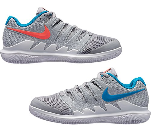 Nike Womens Zoom Vapor X Tennis Shoes  8  Wolf Grey Blue Nebula Hot Lava White
