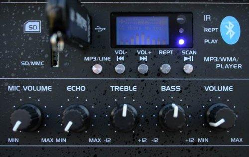 E-Lektron JAD30-B Sound-ANLAGE USB//SD /& Bluetooth Aktiv-Lautsprecher Soundsystem Digitale Enstufe 400W RMS