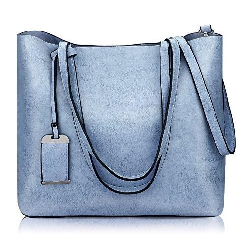 Women Top Handle Satchel Handbags Shoulder Bag Messenger Tote Bag - Purse Blue