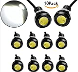 JKLcom LED Eagle Eye Lamps 12V 9W Led Light Bulbs Driving Light Running Lights Tail Light Lamp Bulbs 18mm Small light For Car Van SUV Coupe Sedan 10-pack
