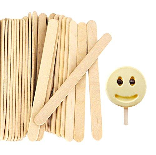 Acerich 200 Pcs Craft Sticks Pop Sticks Ice Cream Sticks Wooden Popsicle Sticks 4-1/2