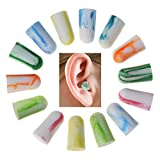 10 Pairs Soft PU Ear Plugs Tapered Travel Sleep Noise Prevention Earplugs Improve Sleep Hearing Protection Random Color