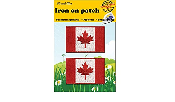 Canada Leaf Embroidered Patch 3 x 3.5 Iron-On//Sew-On Officially Licensed