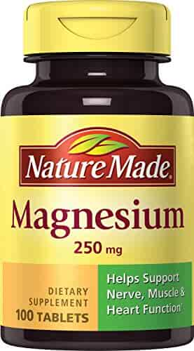 Nature Made Magnesium (Oxide) 250 mg Tablets 100 Ct