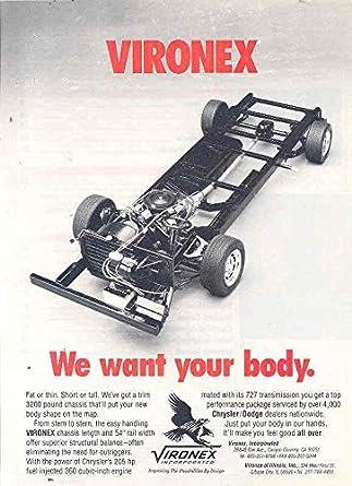 Amazon com: 1990 Vironex Chrysler Dodge Motorhome RV Chassis