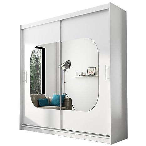 Neuf moderne Armoire Ava 7 portes coulissantes Miroir Chambre à ...