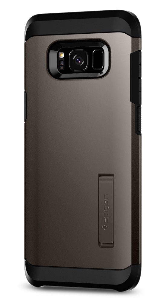 Spigen Tough Armor Galaxy S8 Case with Reinforced Kickstand and Heavy Duty Protection and Air Cushion Technology for Samsung Galaxy S8 (2017) - Gunmetal by Spigen (Image #1)