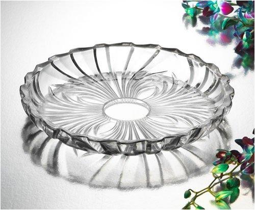 Studio Silversmiths Pavone Large Crystal Plate - Pavone Crystal