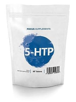 5 HTP Comprimidos 100 mg - Extracto de Griffonia simplicifolia de Focus Supplements | Mejora el ánimo ...