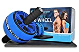 inspire ab roller wheel - The perfect gym fitness workout core training wheel ab carver pro roller and 6 pack abs - advanced non slip rubber - comfortable foam knee pad and grip handles
