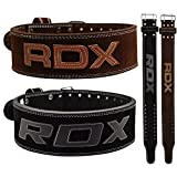 RDX Powerlifting Belt Cow Hide Leather Gym Training Nubuck Weight Lifting Double Prong Back Support Crossfit Fitness Bodybuilding