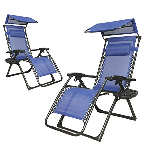 2 Pack Sun Shield Canopy Reclining Zero Gravity Outdoor