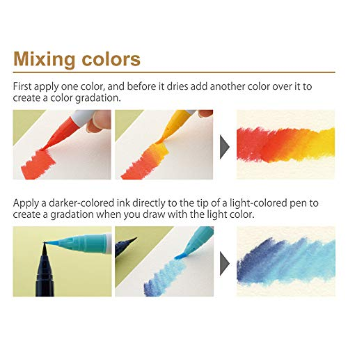 Kuretake ZIG Clean Color Real Brush Marker, 48 Colors with Flexible Brush Tips, Watercolor Pens for Painting, Drawing, Calligraphy and Brush Lettering for Artists and Beginner Painters, Made in Japan