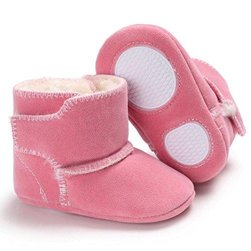 TPulling Herbst Und Winter Mode Baby Mit Schneeschuhen Lässige Schuhe Weiche Sohle Krippe Kleinkind Anti-Rutsch Rosa
