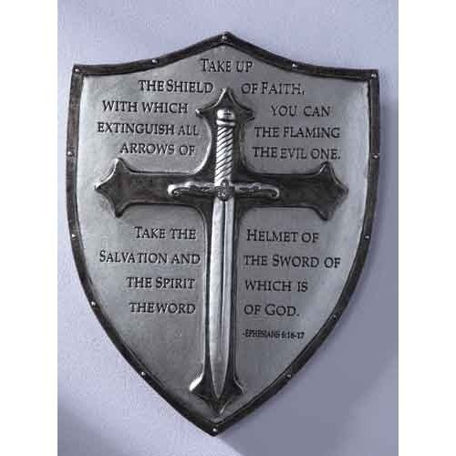 Decorative Armor of God Ephesians 6:16-17 Wall Plaque