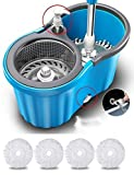 Holme's Easy Magic Floor Mop 360° Bucket Pvc Mop (Random Color)