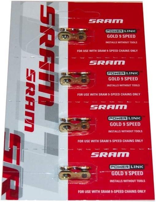 SRAM 72.2740.200.751 Conector Cadena, Oro, 9v, 4 Unidades ...
