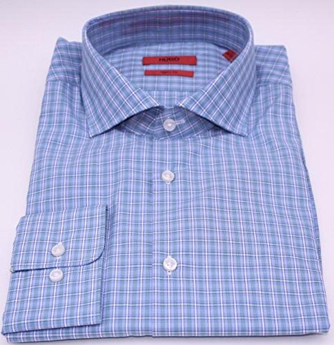 Hugo Boss Mens Meli Blue Sharp Fit Dress Shirt from Hugo Boss