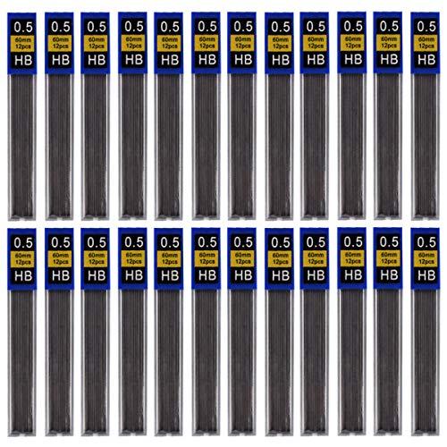 (Aunifun 600 Pieces Lead Refills HB Black Mechanical Pencil Refills, 50 Tubes)
