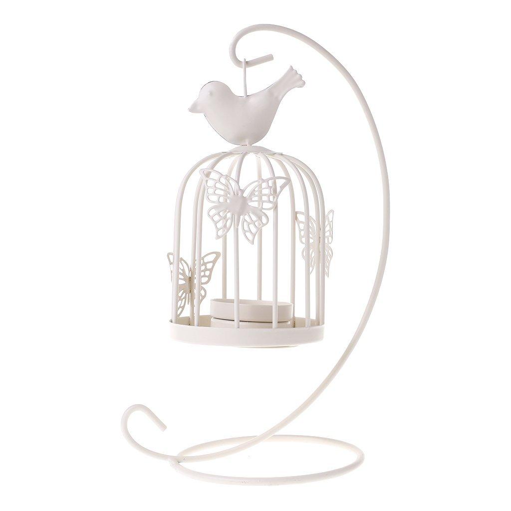 AeeKing Papillon Cage /À Oiseaux Chandelier Fer Bougeoir Lanterne D/écor /À La Maison Premium Qualit/é