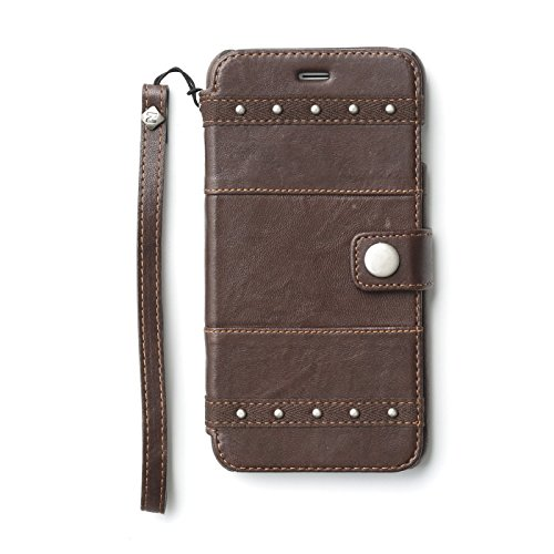 Two Tone Lamb (Zenus Bohemian M Diary Genuine Two-tone Lamb Leather [Tan Brown] Cover Case with Hand Strap for Apple iPhone 6 + Plus 5.5