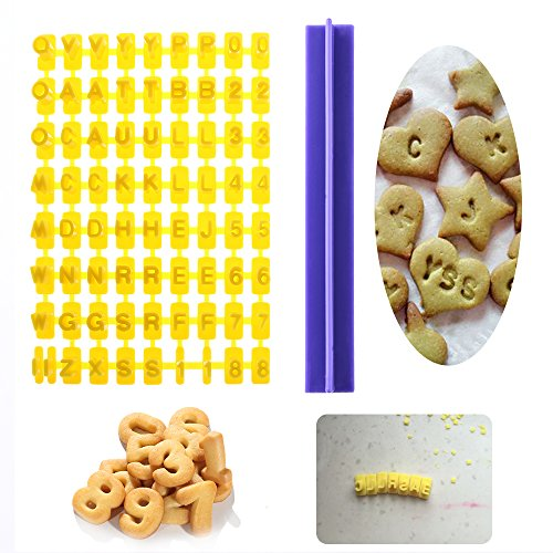 STORE-DECORATIVE - 1Set Alphabet Letters Numbers Tappits Frill Edge Fondant Gum Paste Cutters Cake Cookie Baking accessories Mold Stencil Tools