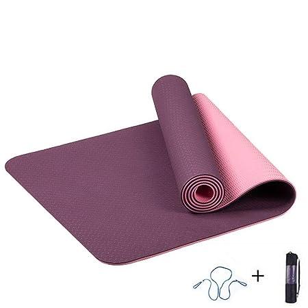 BJYG 6MM TPE Yoga Mat Antideslizante Deportes Fitness ...