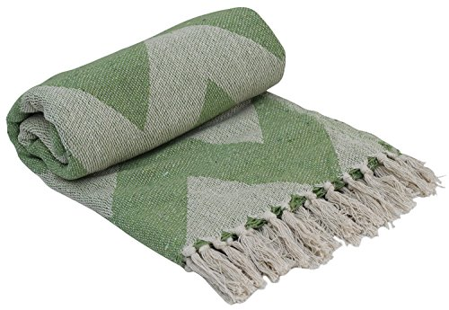 SouvNear Southwest Throws - 65x52 Inch Hand-Woven 100% Cotto