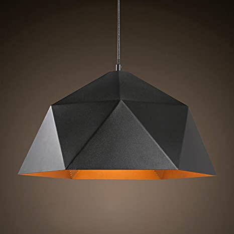Diy FamilyModern Pendant Hanging Light Metal Rhombus Pendant ...