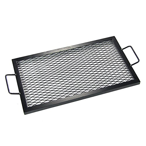 UPC 819804016625, Sunnydaze X-Marks Rectangle Fire Pit Cooking Grill, 36 Inch