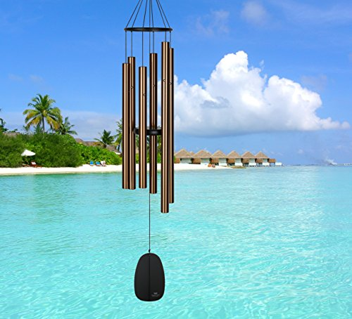 Woodstock Chimes BPLBR The Original Guaranteed Musically Tuned Chime Large Bells of Paradise, Bronze