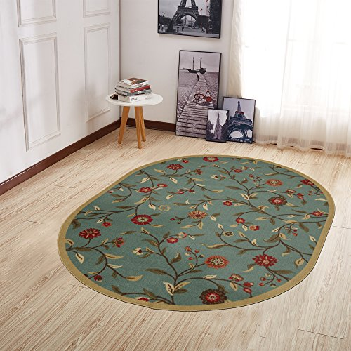 Ottomanson Otto Home Collection Floral Garden Design Modern Runner Rug