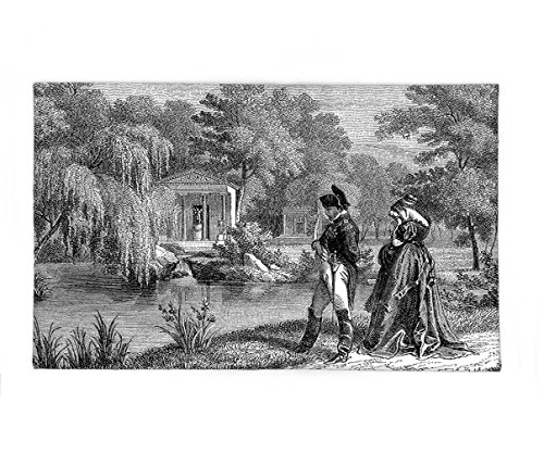 French Revolution Female Costume (Interestlee Fleece Throw Blanket Vintage Historical French Revolution Sketch with Napoleon and Woman in Garden Artwork Dark Grey Black)