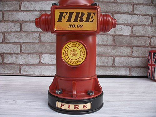 Kangsanli Vintage Style Resin Craft Saver Fire Hydrant Shaped Coin Money Box Saving Money Piggy Bank Home Decor Student Gifts - Bank Fire Hydrant Piggy