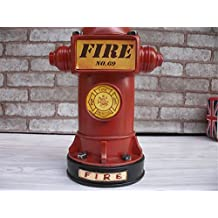 Vintage Style Resin Craft Saver Fire Hydrant Shaped Coin Money Box Saving Money Piggy Bank Home Decor Student Gifts Kangsanli (red)