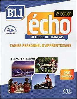 Descargar Epub Gratis Echo. B1.1. Cahier. Per Le Scuole Superiori. Con Espansione Online