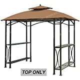 grill canopy - ABCCANOPY Canopy Roof Top Replacement L-GG040PST-A Small Grill Gazebo Canopy (Brown)