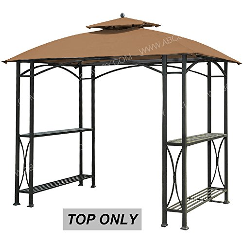 UPC 619548161687, ABCCANOPY Canopy Roof Top Replacement L-GG040PST-A Small Grill Gazebo Canopy (Brown)