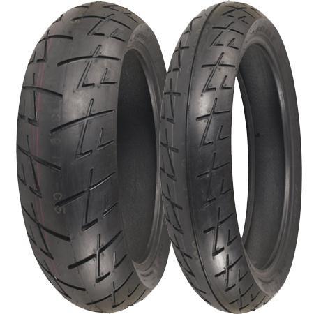 Shinko 009 Raven Radial Tire - Rear - 180/55ZR17, Position: Rear, Tire Size: 180/55-17, Rim Size: 17, Speed Rating