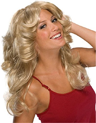 Women's 70s Voluminous Blonde Fashion Wig - One Size
