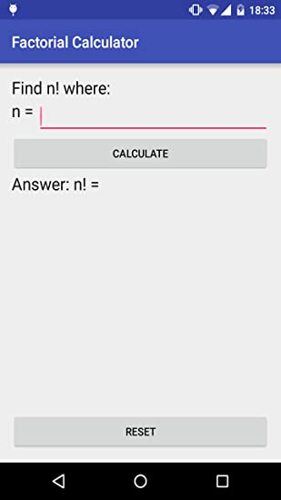 Amazon com: Factorial Calculator: Appstore for Android