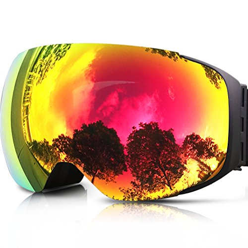 51gju3eF10L - Zionor Lagopus Ski Snowboard Goggles UV Protection Anti-fog Snow Goggles for Men Women Youth