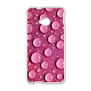 Pink clear droplet Phone Case for HTC One M7