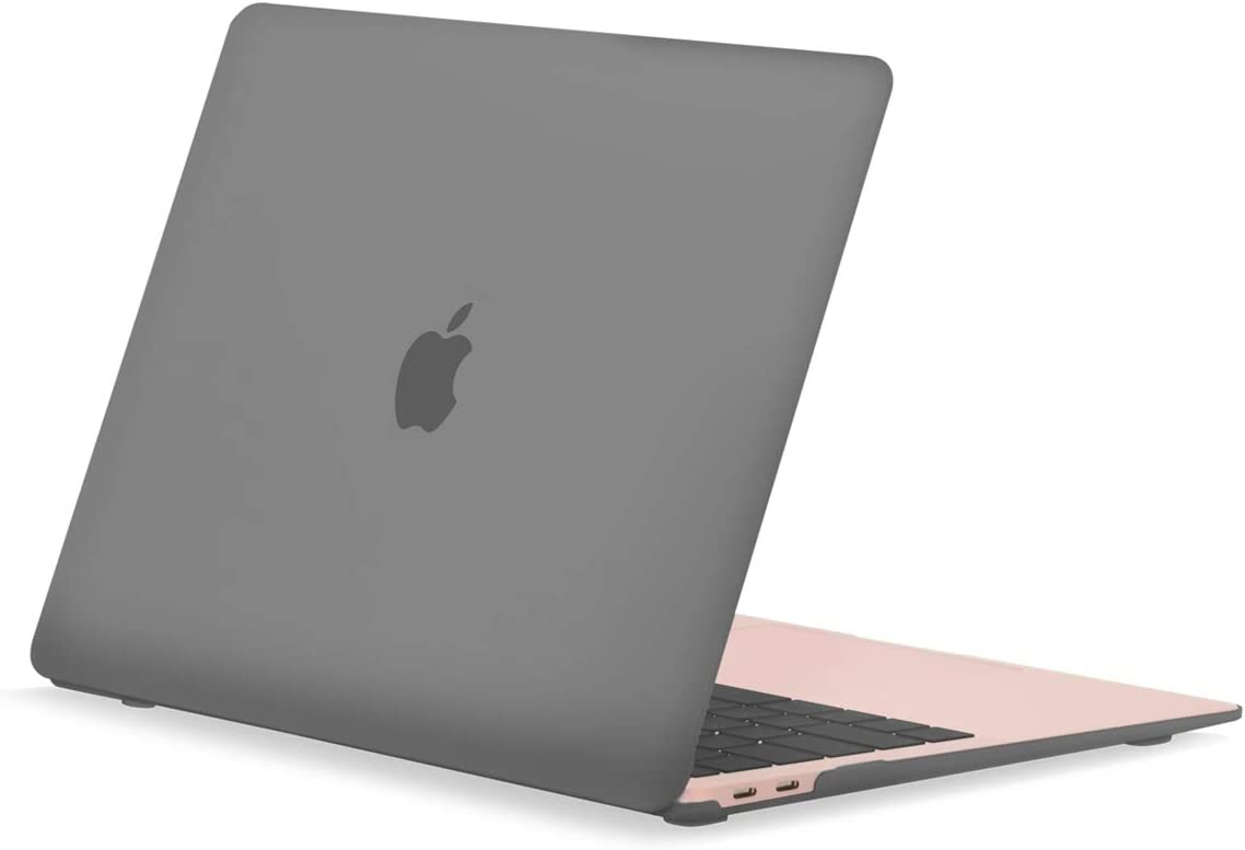"""TOP CASE MacBook Air 13 Inch Case 2020 2019 2018 Release A1932/A2179, Classic Series Rubberized Hard Case Compatible MacBook Air 13"""" with Retina Display fits Touch ID - Gray"""