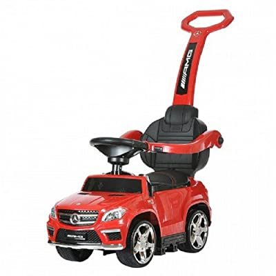 4-in-1 Mercedes Push Car - Red: Beauty