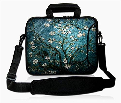 eyscar 15.6-Inch Laptop Shoulder Bag Messenger Case Sleeve with Handle and Extra Pocket for 14