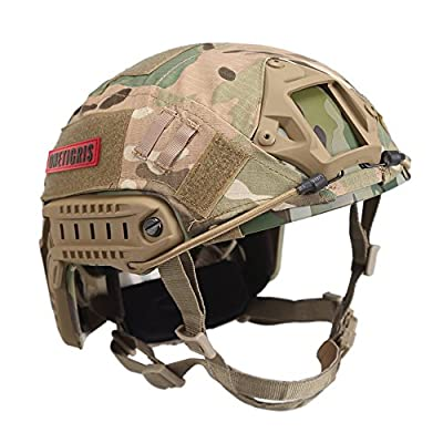 OneTigris PJ Type Tactical Fast Helmet for Airsoft Paintball with Helmet Cloth Cover