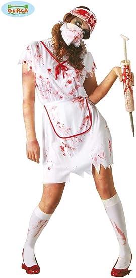 Guirma 80482 - Disfraz enfermera zombie para adultos (talla 42-44 ...