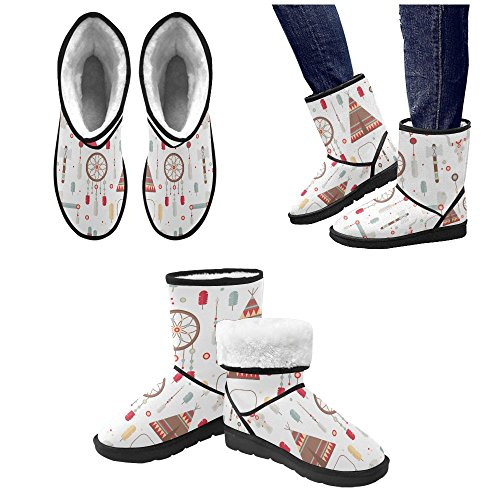 Womens Print 5 Boots 12 Size Color12 Colorfuler Snow InterestPrint Boots Snow Classic 5 Flowers Pattern On Rq154nwa0